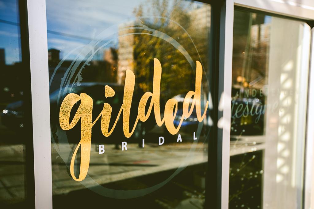 Gilded Bridal Storefront