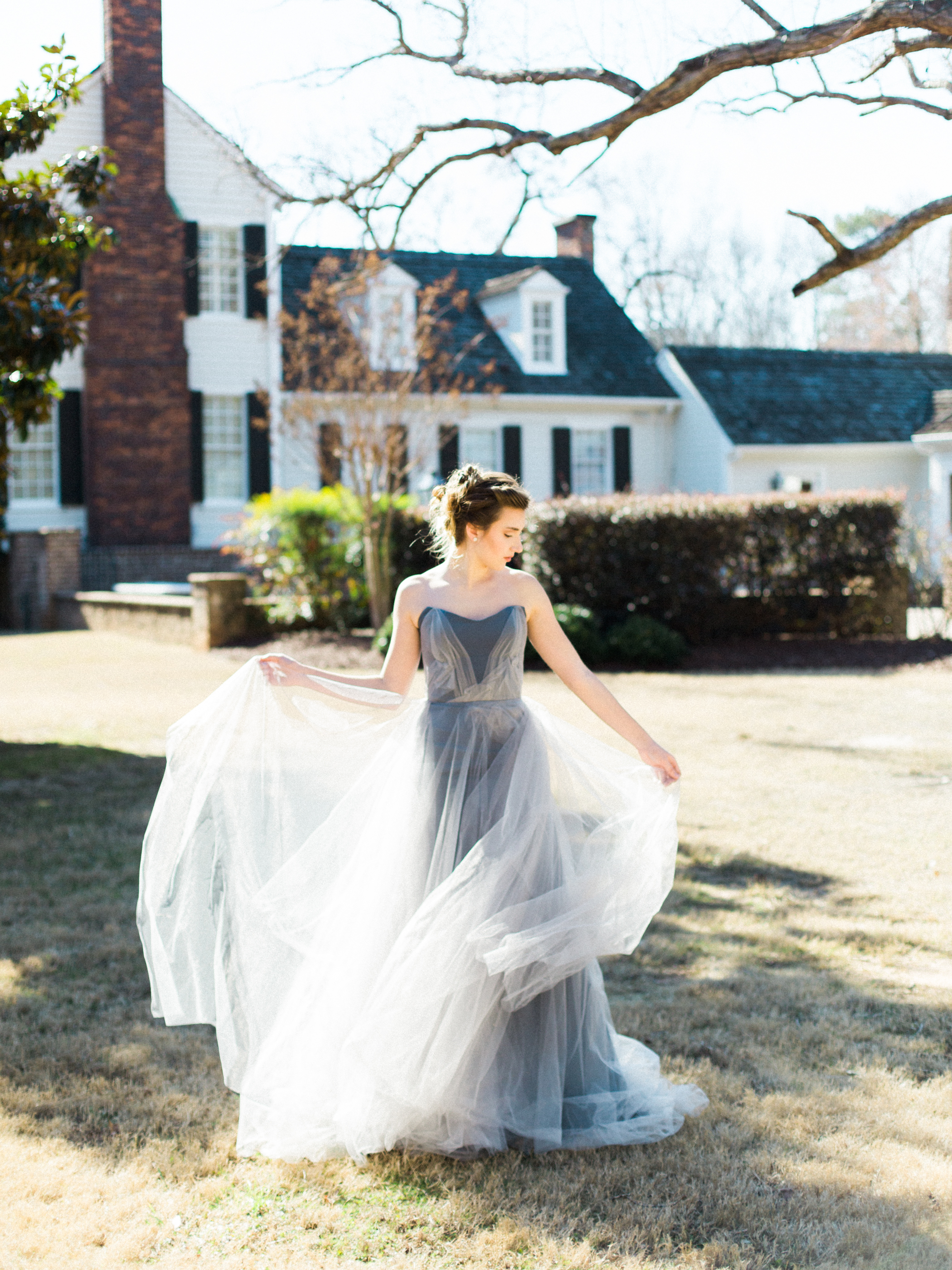 Dove Grey Wedding Dress